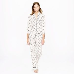 J. Crew Fleur De Lis Print pajamas 2pc Set XS